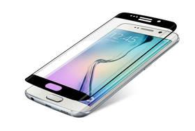 InvisibleSHIELD Glass Contour pro Samsung Galaxy S6 Edge - černý rám (ZGG6ECGS-BK0) průhledné