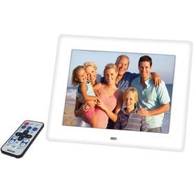 Elektronický fotorámček Sencor SDF 871 V biely