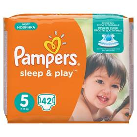 Pampers Sleep&Play 5 junior, 42 ks