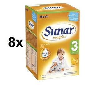 Sunar Complex 3 banán, 600g x 8ks + Doprava zdarma