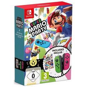 Nintendo SWITCH Joy-Con zelená/růžová + hra Super Mario Party (NSS673)