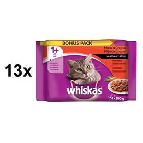 Whiskas Masový výběr se zeleninou 13 x (4 x 100g)