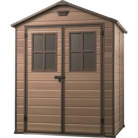 Záhradný domček Keter SCALA 6x5 hnedý