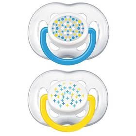 Philips AVENT SENSITIVE FANTAZIE 6-18m. bez BPA, 2ks, potisk modré/žluté