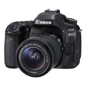 Canon EOS 80D + 18-55 IS STM (1263C033) černý + Cashback 2700 Kč + Doprava zdarma