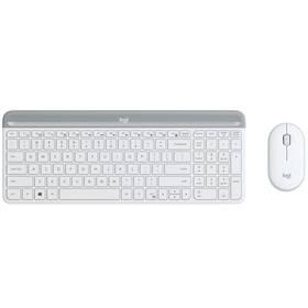 Logitech Wireless Combo MK470 Slim, US (920-009205) biela