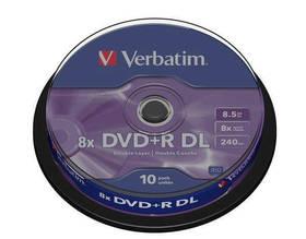 Verbatim DVD+R DualLayer, 8.5GB, 8x, 10-cake (43666)