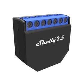 Shelly 2.5, spínací/žaluziový modul s měřením spotřeby 2x 10A, WiFi (SHELLY-2-5)