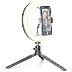 CellularLine Selfie Ring s LED osvětlením pro selfie fotky a videa (SELFIERINGK) čierne