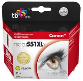 TB Canon CLI-551XL - kompatibilní (TBC-CLI551XLY) žlutá