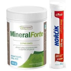 Vitar Nomaad Mineral Forte 500g + šumivý vitamín Vitar Hořčík 375 mg Šumivý vitamín Vitar Hořčík 375 mg mango (zdarma)