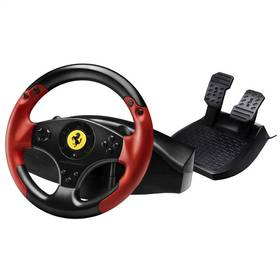 Volant Thrustmaster Ferrari Red Legend + pedály pro PC, PS3 (4060052) čierny