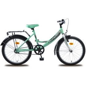 """Olpran Tommy 20"""" bílé/zelené + Reflexní sada 2 SportTeam (pásek, přívěsek, samolepky) - zelené v hodnotě 58 Kč"""