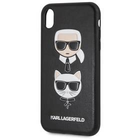 Karl Lagerfeld Karl and Choupette Hard Case pro Apple iPhone XR (KLHCI61IKICKC) černý