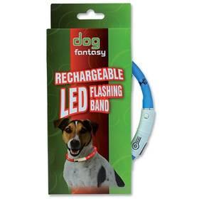 Obojok Dog Fantasy LED světelný 45cm modrý