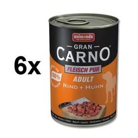 Animonda Adult Gran Carno hovězí + kuře 6 x 400g
