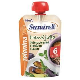 Sunárek Do ručičky Meal Pouch - Dušená zelenina s hovězím masem 120g x 12ks