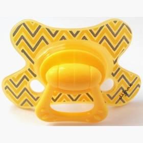 Difrax dental +18m šedé/žluté