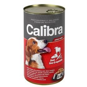 Calibra Dog Adult hovězí + játra + zelenina v želé 1240 g