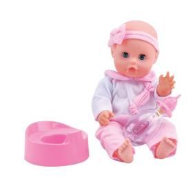 Bambolina s nočníkem a kojeneckou lahvičkou 33 cm
