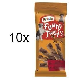 Pochúťka Frolic Funny Twists 10 x 140g