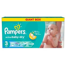 Pampers Active Baby-dry vel. 3 Midi, 108ks
