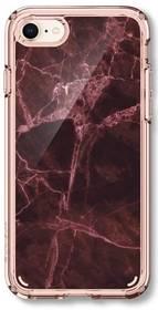 Spigen Ultra Hybrid 2 Marble pro Apple iPhone 8/7 (054CS23105) červený