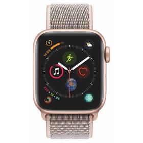 Apple Watch Series 4 GPS 40mm pouzdro ze zlatého hliníku - pískově růžový provlékací sportovní řemínek CZ verze (MU692HC/A)