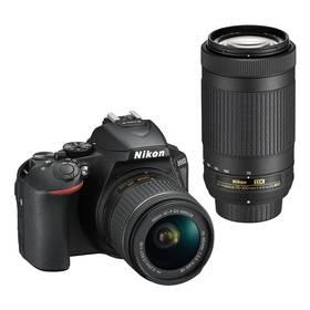 Nikon D5600 + 18-55 AF-P VR + 70-300 AF-P (VBA500K004) černý + Cashback 2600 Kč + Doprava zdarma