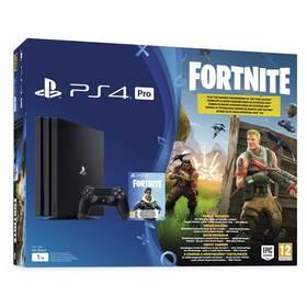 Sony PlayStation 4 PRO 1TB + hra FORTNITE voucher (PS719723714) černý + Doprava zdarma