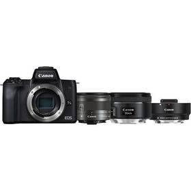 Canon EOS M50 + EF-M15-45 + EF 50 1.8 S + ADA (2680C061) černý + Doprava zdarma