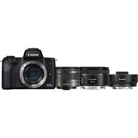 Canon EOS M50 + M 15-45 IS STM + obj. 50/1.8 + ADAPTER (2680C061) černý