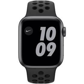 Apple Watch Nike Series 6 GPS 44mm pouzdro z vesmírně šedého hliníku - antarcitově/černý sportovní řemínek Nike (MG173VR/A)