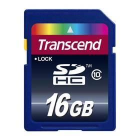 Transcend SDHC 16GB Class10 (TS16GSDHC10) modrá