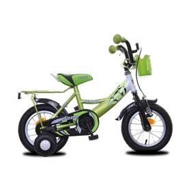 """Olpran Baby extra 12"""" žluté/zelené + Reflexní sada 2 SportTeam (pásek, přívěsek, samolepky) - zelené v hodnotě 58 Kč"""