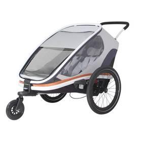 "Dětský vozík za kolo Hamax Outback ""2in1"" - bílá/šedá/oranžová + Doprava zdarma"
