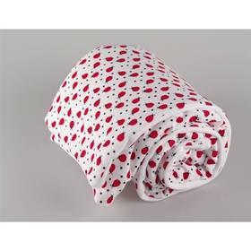 Dětská deka Kaarsgaren bílá/červená