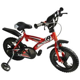 """Dino Bikes Dino Bikes 14"""" červené + Reflexní sada 2 SportTeam (pásek, přívěsek, samolepky) - zelené v hodnotě 58 Kč + Doprava zdarma"""