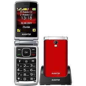 Aligator V710 Senior Dual SIM (AV710RS) červený