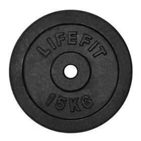 LIFEFIT kovový 15kg pro 30mm tyč černý