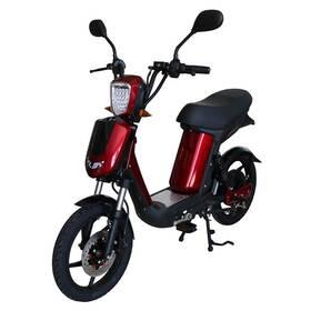 Elektrický motocykl RACCEWAY E-BABETA, vínový-metalíza