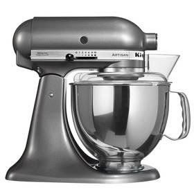KitchenAid Artisan 5KSM150PSEMS šedý Příslušenství k robotu KitchenAid KB3SS nerezová mísa (3l) (zdarma)Příslušenství k robotu KitchenAid 5KFE5T plochý šlehač se stěrkou (zdarma) + Doprava zdarma