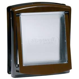Staywell s transparentním flapem 755 - hnědé + Doprava zdarma