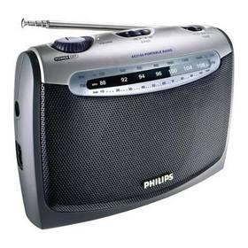 Philips Portable radio AE 2160 stříbrný + Doprava zdarma