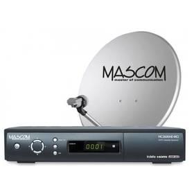 Satelitný komplet Mascom MC2600/80M3 příjem tří družic čierny