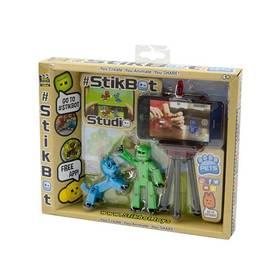 EP Line figurka + zvířátko se stativem, zelená, modrý pes