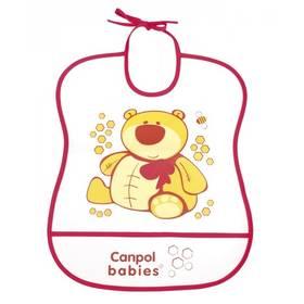 Canpol babies Cheerfull Animals plastový měkký, medvídek červený