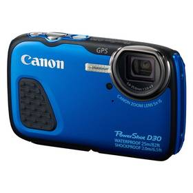 Canon PowerShot D30 HS modrý Paměťová karta Kingston MicroSDHC 16GB UHS-I U1 (45R/10W) + adapter (zdarma) + Doprava zdarma