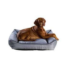 Argi pro psa obdélníkový - 80x65 cm / snímatelný potah šedý
