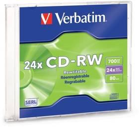 Verbatim CD-RW 700MB 8-12x jewel box, 1ks (43148)